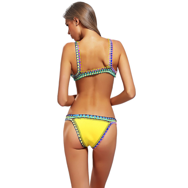 Swimming Suit Retro Bikini Set