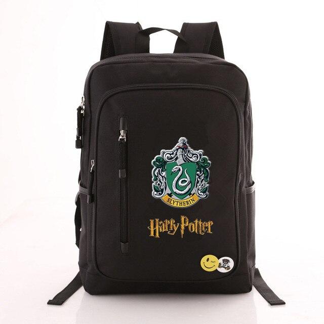 Рюкзак гарри Поттер эмблемы черный 4