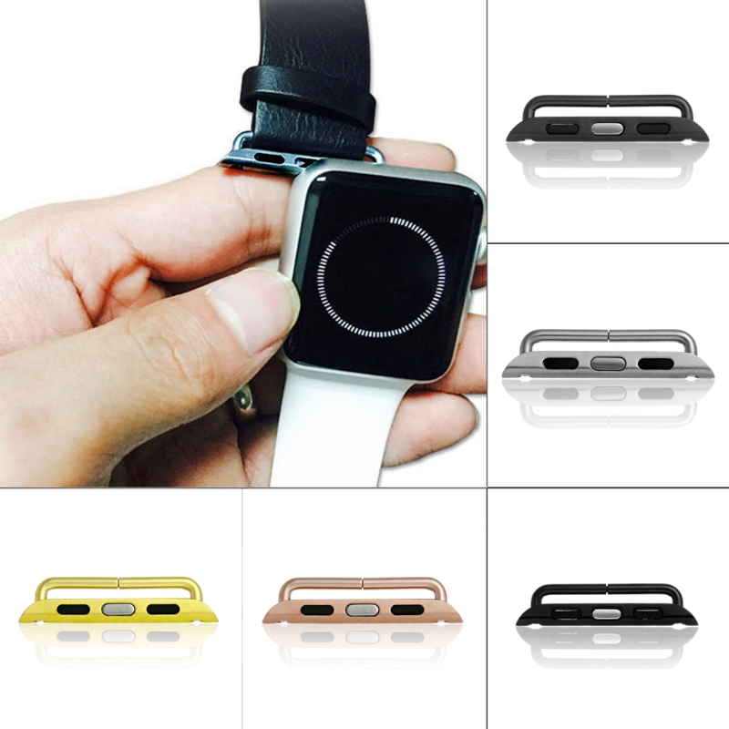 Stainless Steel Watch Adapter for Apple iWatch 38 42mm Band Strap Connector Silver Black цены