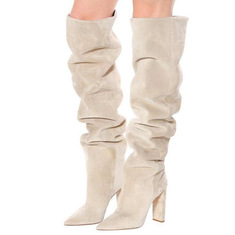 New Fashion Flock Leather Women Over