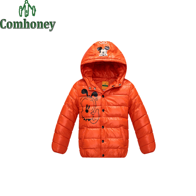 d2a39ddbd Children Down Jackets For Girl Minnie Mouse Clothing Infant Boys Snowsuit  School Clothes Winter Clothes For Girl Sportwear