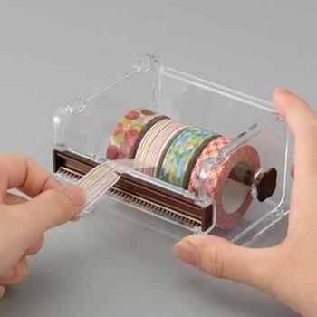 ef6caeae851f 2019 venta al por mayor de plástico Durable Washi cinta dispensador de  cinta adhesiva de organizador contenedor de la Oficina de la escuela  Accesorios