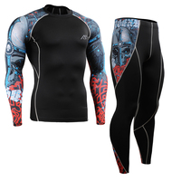 Skin Tight Gym Training Sport Suit Workout Fitness Yoga Clothing Set Men S Compression Shirts Tights