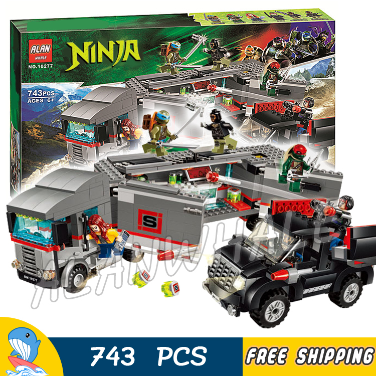 743pcs New Ninja Big Rig Snow Getaway Truck 10277 DIY Model Building Blocks Children Toys Brick Movie Games Compatible with Lego 890pcs new ninja lair invasion diy 10278 model building kit blocks children teenager toys brick movie games compatible with lego