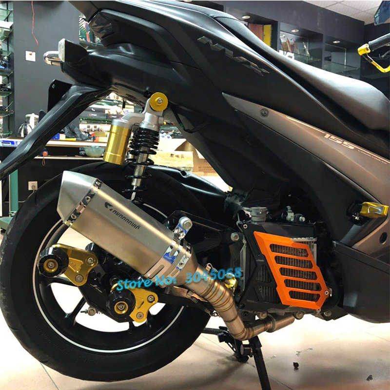 For Yamaha NVX 155 AEROX155 NVX155 Motorcycle Akrapovic Exhaust Modified  Fornt Connection Link Pipe Muffler DB Killer Sticker