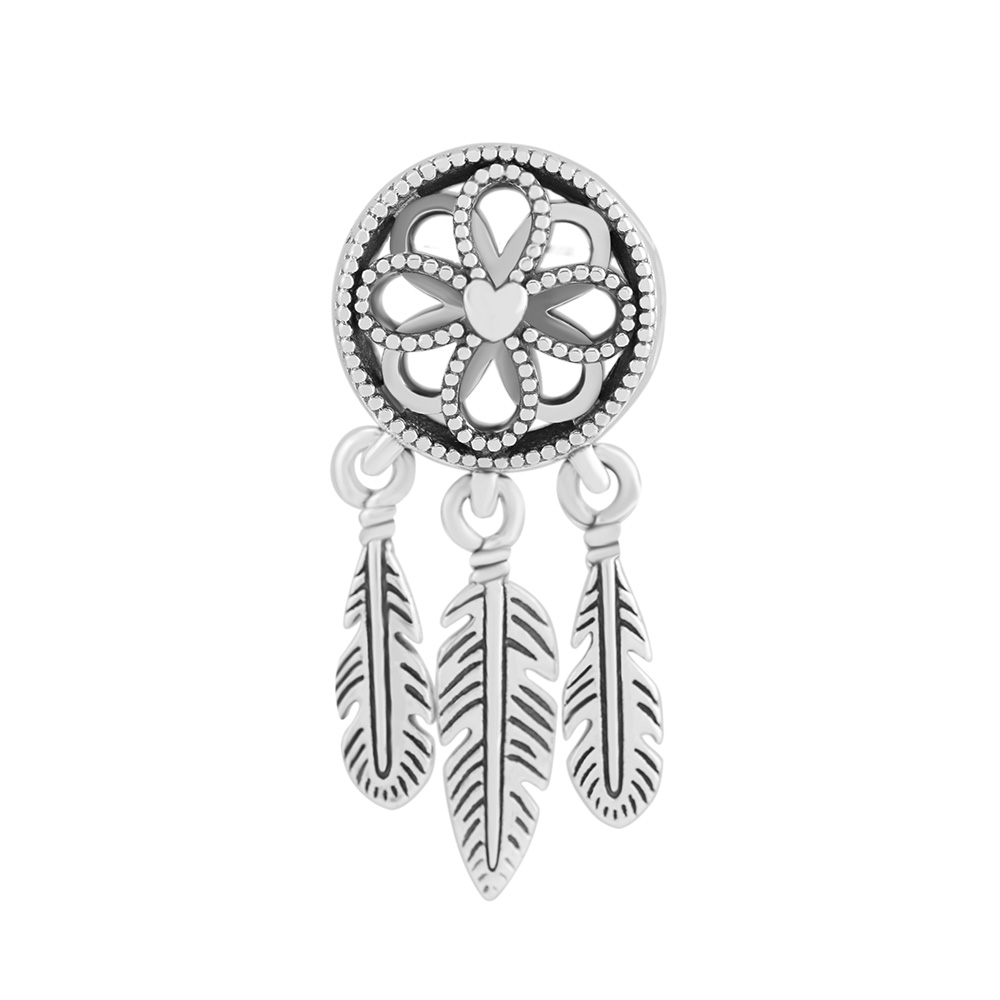 Pandulaso Spiritual Dreamcatcher Charm Fit European DIY 925 Sterling Silver Jewelry Bracelets For Woman Beads For Jewelry Making