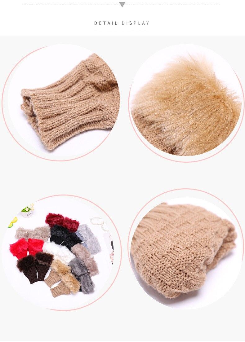 Winter Knitted Gloves New Wrist Trim Gloves 15