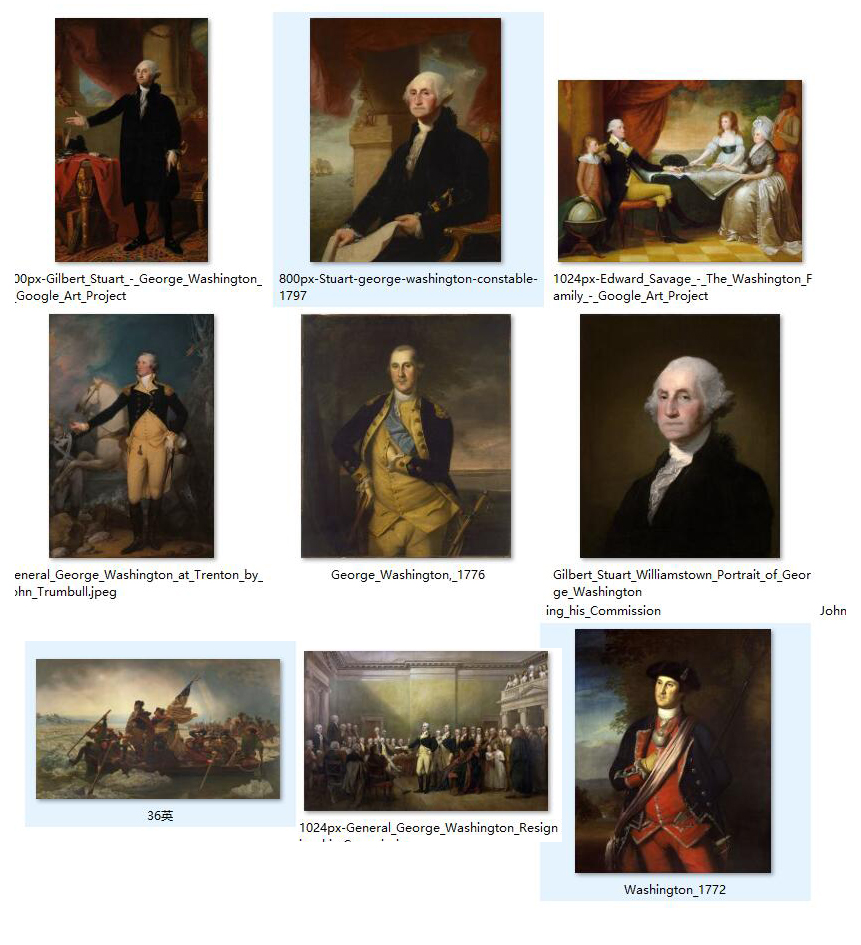 9pcs -HOME TOP decorative art GOOD quality American president father  George Washington painting print art--wholesale print art