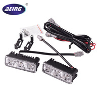 AEING 1 Set Car 3 LED DRL 9W Universal Car Led Light Daytime Running Auto Lamp