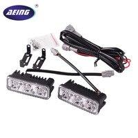 AEING 1 Set Car 3 LED DRL 9W Universal Car Led Light Daytime Running Auto Lamp