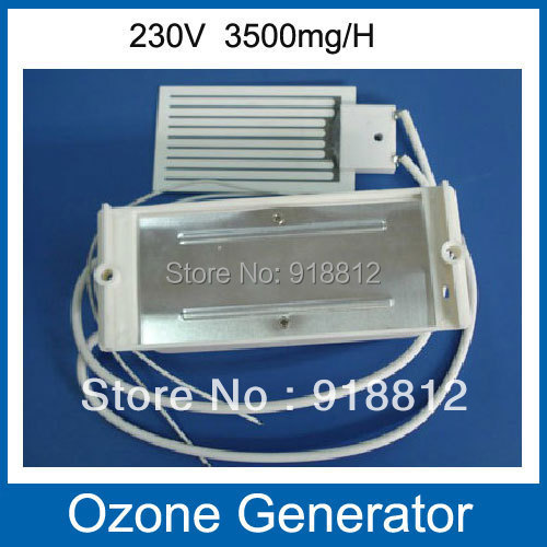 AC220V long life Ceramic ozone Plate Ozone Generator with 3500mg/h air purifier ozone water Free shipping commercial 3500mg h ozone generator air purifier machine odor smoke industrial