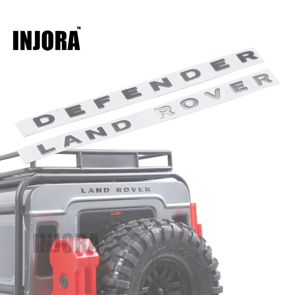 INJORA 1Pc TRX4 Land Rover Defender Metal Logo Label Sticker for 1/10 RC Crawler Traxxas TRX-4 Trx 4 RC4WD D90 D110 усилитель руля насос для land rover defender 07 ld90 15 внедорожник 2 4 td4 oem lr009817 новый