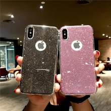 Glitter 2 In 1 Silikon Case untuk iPhone X Max XR X 6 S 7 8 PLUS Xiaomi Redmi 6A 6 5 Pro 5A 4A 3 S Note 3 4 4X5 Plus Penutup Karet(China)