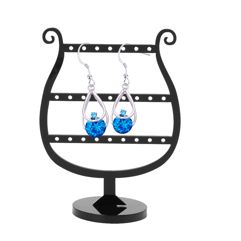 2 In 1 Earrings Studs 25 Hole Showcase Display Stand Holder Acrylic Jewellery