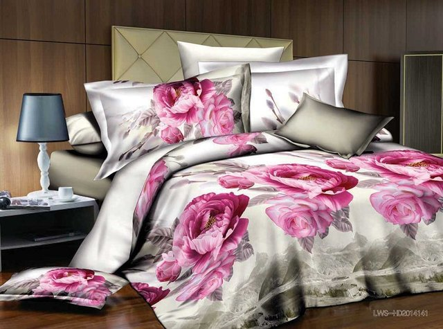 Relatively Superfine polyester fiber Valentine's Day gift bedding sets Purple  HQ63