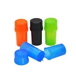 Młynek do tytoniu 3 części młynek do przypraw plastikowy młynek do ziół może przechowywanie tytoniu Case akcesoria do papierosów Amoladora de tabaco