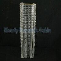 Wedding Road Leads Flower Stand Wedding centerpiece,Crystal Pillar 80cm Tall