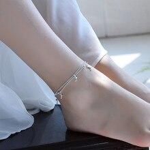 TJP Trendy Women Silver 925 Anklets Jewelry Cute Dolphin Girl Bracelets For Fashion Lover Friend Gift