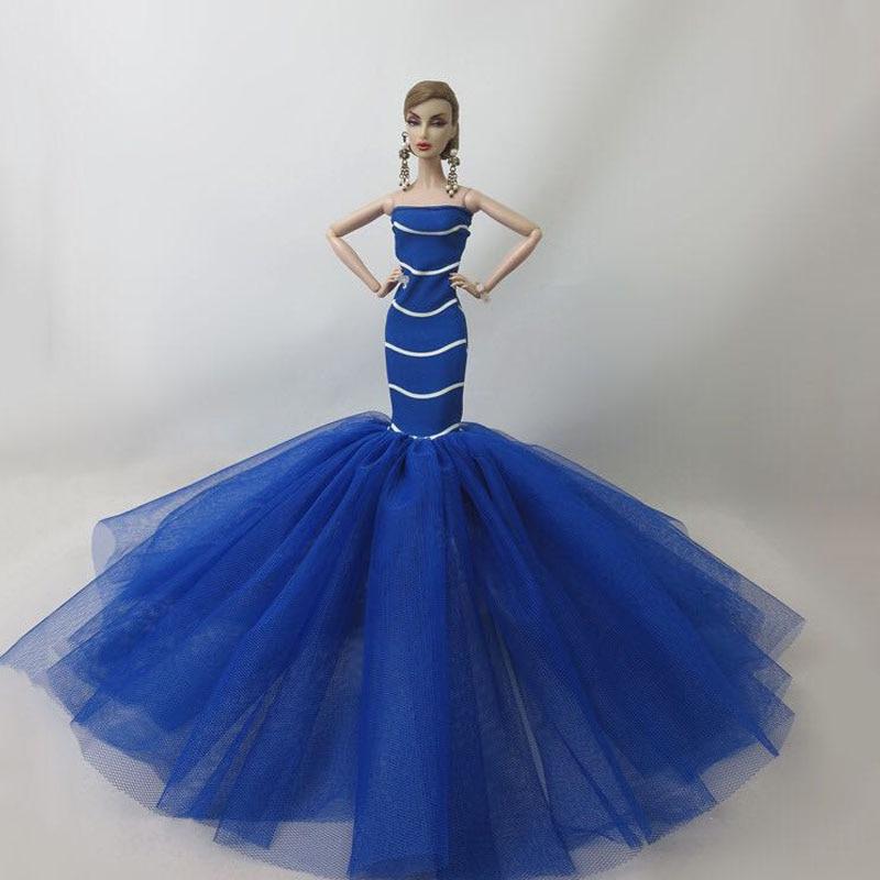 Fashion Mermaid Clothes For 1//6 Bjd Doll Fishtail  Wedding Dresses Party Dress