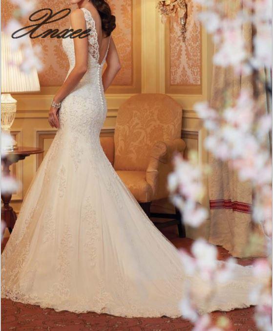 2019 nouvelle robe en dentelle en queue de poisson robe élégante et élégante