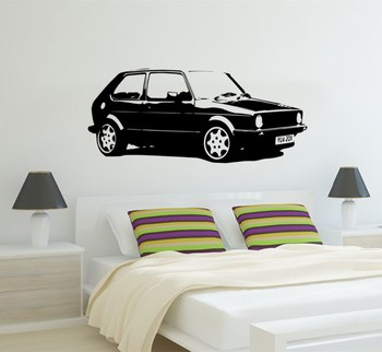 Special Design Vintage XL Large Car VW Golf GTI Mk1 Classic Wall Art Decal Sticker Home Decoration Art Mural Room Sticker W-907 image
