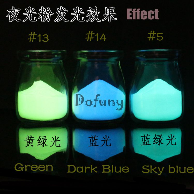 100g/bag, 3 colors Luminous powder Blue Green Glow in Dark Powder Noctilucent Powder Nail Glitter phosphor Paint Powder