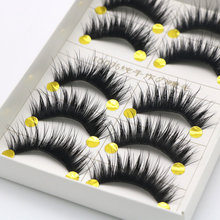 10 Pairs 3D Mink Reusable False Eyelashes Natural Curly Thick No Glue Fake Eyelashes Make-up Tools Eye Lashes Extension EFERO exaggerated eye tail lengthening thick reusable false eyelashes