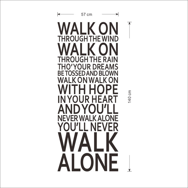 Afbeeldingsresultaat voor you always walk alone