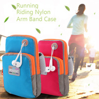 5 Universal Running Riding Nylon Arm Band Case For Iphone 6 6S 5s For Samsung Galaxy