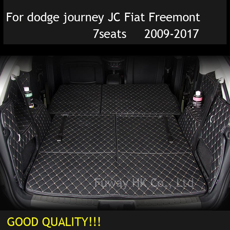 CUSTOM  Cargo Liner Car Trunk Mat Carpet Interior Leather Mats Pad Car-styling For Dodge Journey JC Fiat Freemont 2009-2017
