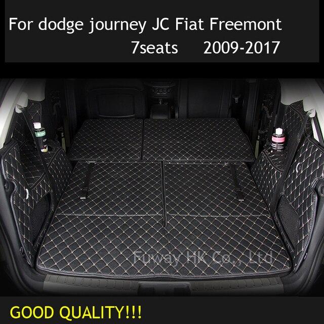 CUSTOM Cargo Liner Car Trunk Mat Carpet Interior Leather Mats Pad  Car Styling For Dodge