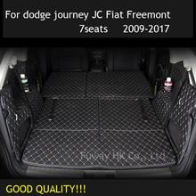 На заказ грузовой лайнер автомобильный коврик для багажника коврик интерьерный кожаный коврик для автомобиля-Стайлинг для dodge journey JC Fiat Freemont 2009-2017