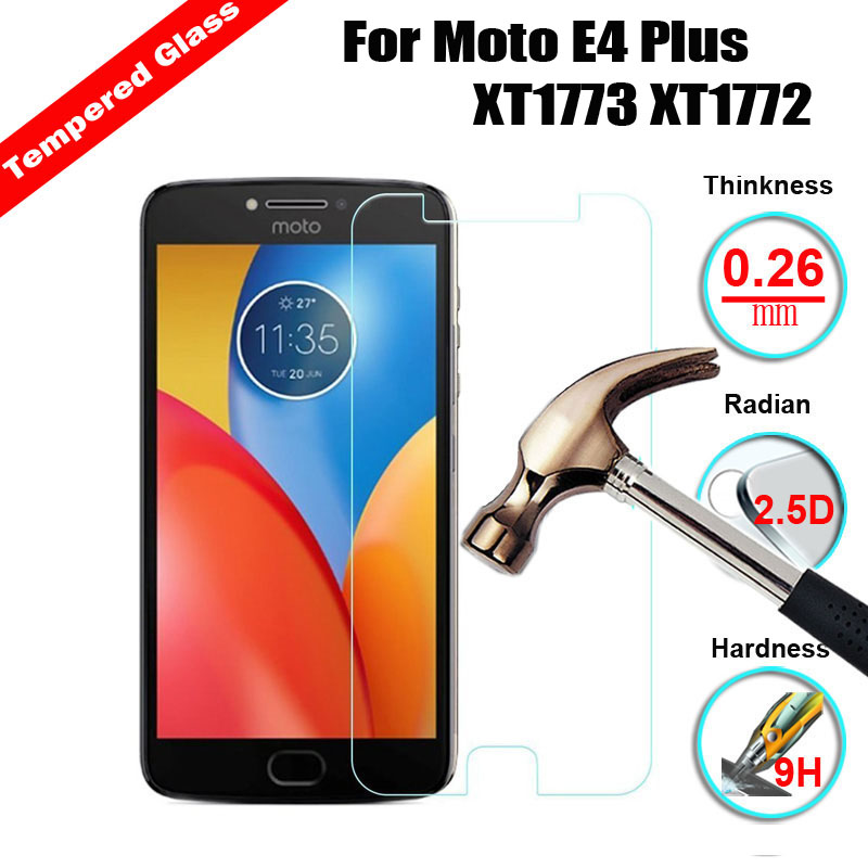 XSKEMP 2Pcs/Lot Real Tempered Glass For Motorola <font><b>Moto</b></font> <font><b>E4</b></font> <font><b>Plus</b></font> XT1773 <font><b>XT1772</b></font> 9H Hardness 2.5D Premium Screen Protector Film Phone image