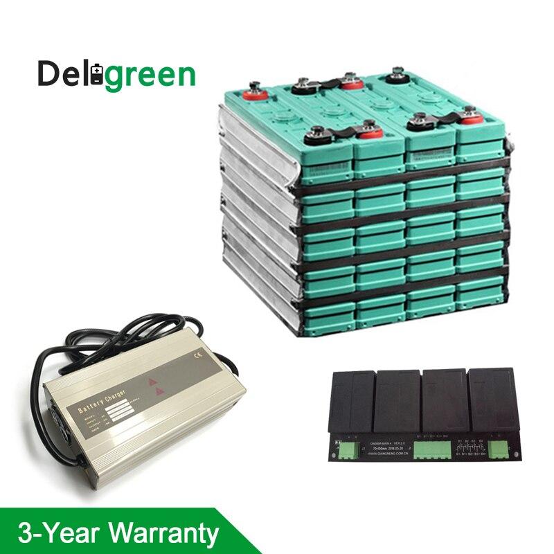 GBS 12 V 200AH ensemble complet GBS LIFEPO4 batterie et 4 S équilibreur de batterie et chargeur 25A pour vélo électrique/outil/tondeuse