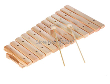 Free ship fine 1pc children kids natural Wooden 8 12 note tone xylophon percussion musical instrument music early development