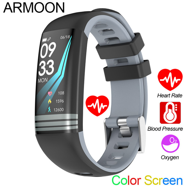 1ab5f529957e Banda inteligente G26 Android IOS corazón pulsera sueño Monitor de Fitness  Tracker Color reloj con pantalla modo deporte banda