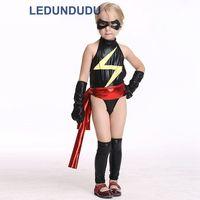 El Flash Cosplay Costume for Kids Niños Traje Del Partido de Halloween Fancy Negro Mono de Cuero de Imitación