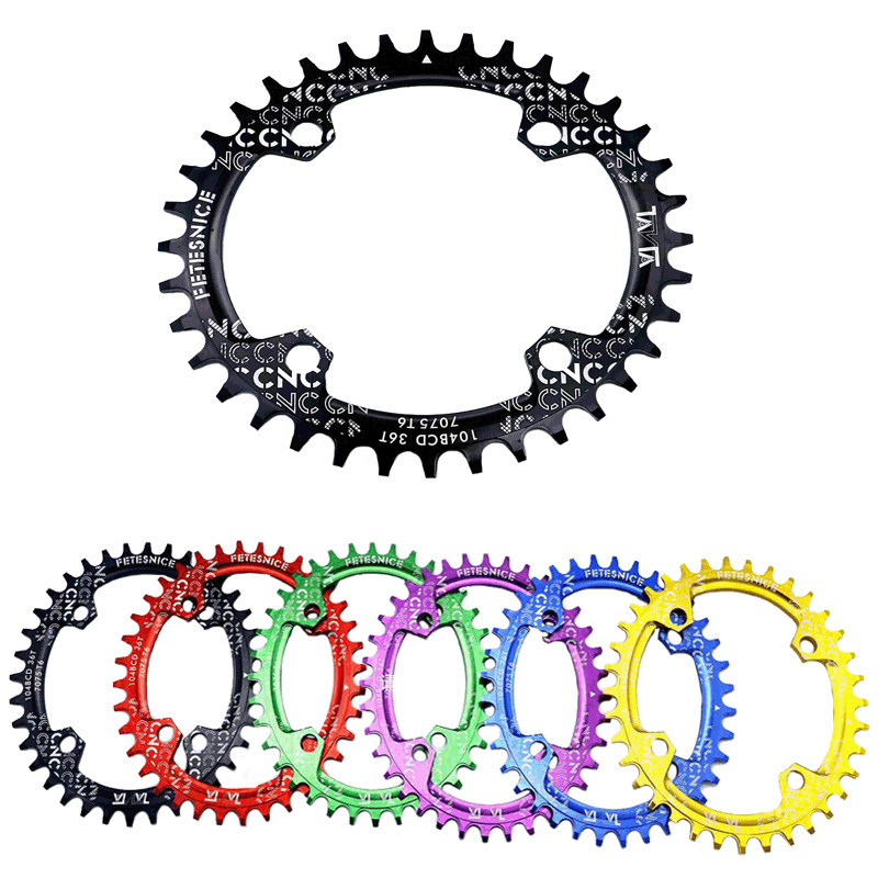 36T Bicycle Chainwheel Crank Bike Single Speed Oval Freewheel Bicycle Narrow Wide Chain Rings Cog Sprockets Cdg
