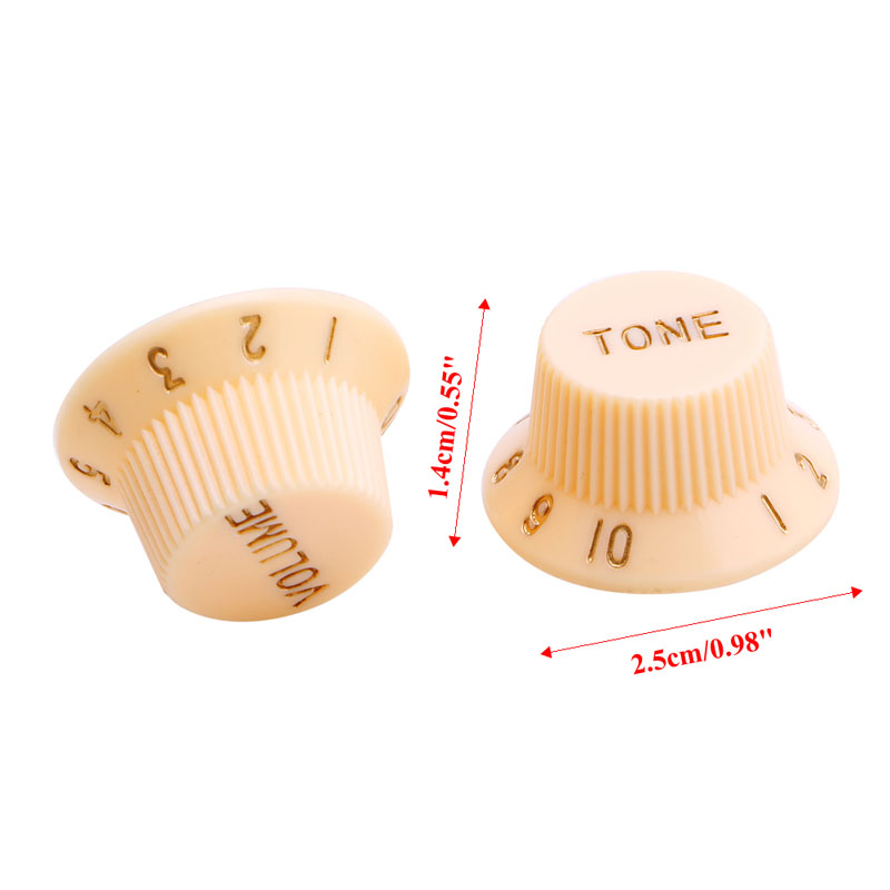 Купить с кэшбэком 1 Volume 2 Tone Knob Button Guitar Control Knobs For FD ST Cream  Tuning button