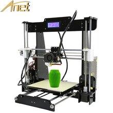 Анет 3d принтер Автоматическое Выравнивание A8/Стандартный A8 Точности Reprap Prusa i3 DIY Kit 3d-принтер С Бесплатным 10 м Нити подарок