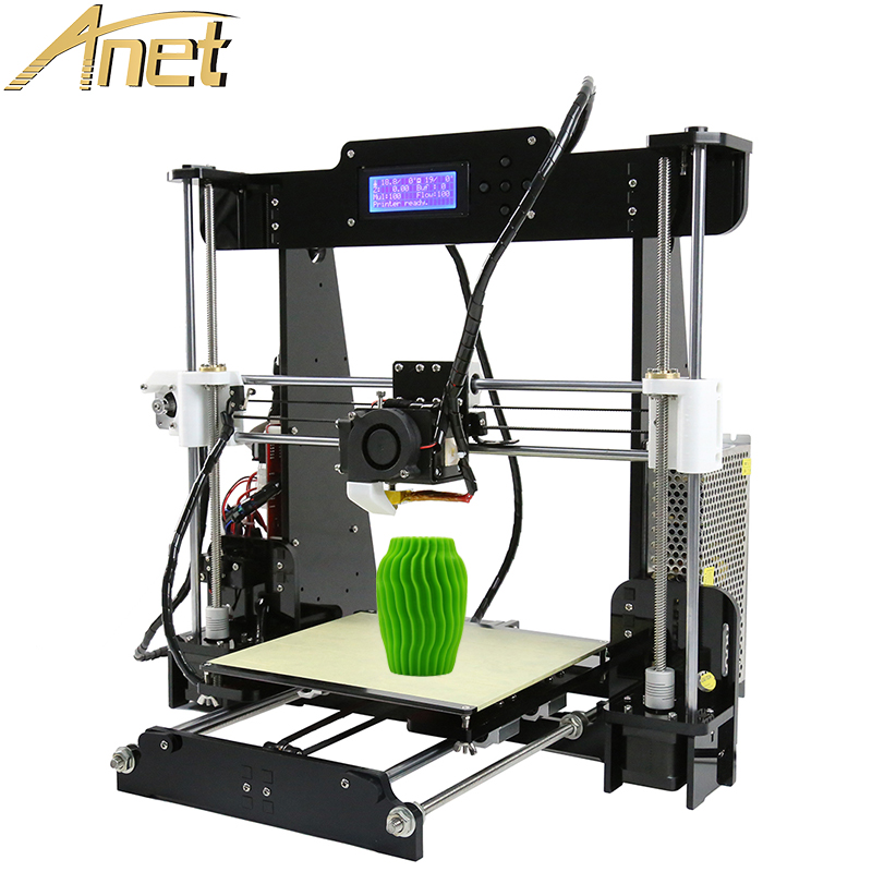 Anet 3d printer Auto Leveling A8/Standard A8 Precision Reprap Prusa i3 DIY 3D Printer Kit With Free 10m Filament Gift
