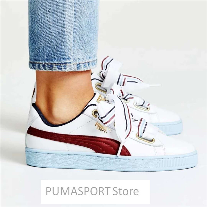 все цены на New Arrival PUMA Basket Heart New School Sneakers Women's Badminton shoes Size 35.5-40