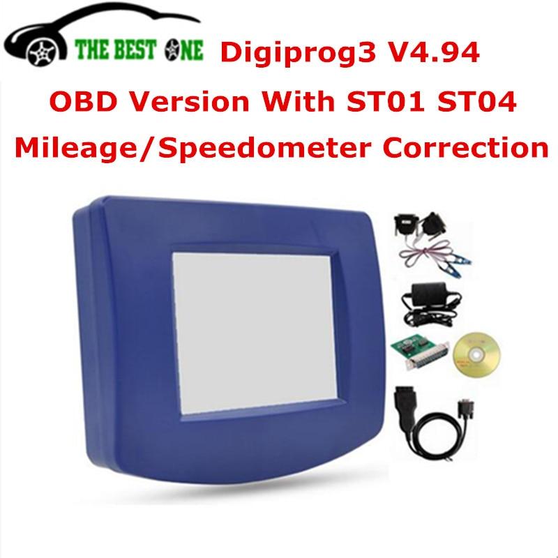 imágenes para 2017 Mejor 3 V4.94 Digiprog OBD 4.94 Digiprog III Con OBD2 ST01 ST04 Cable FTDI Digiprog3 Programador Del Odómetro Corrección Del Kilometraje