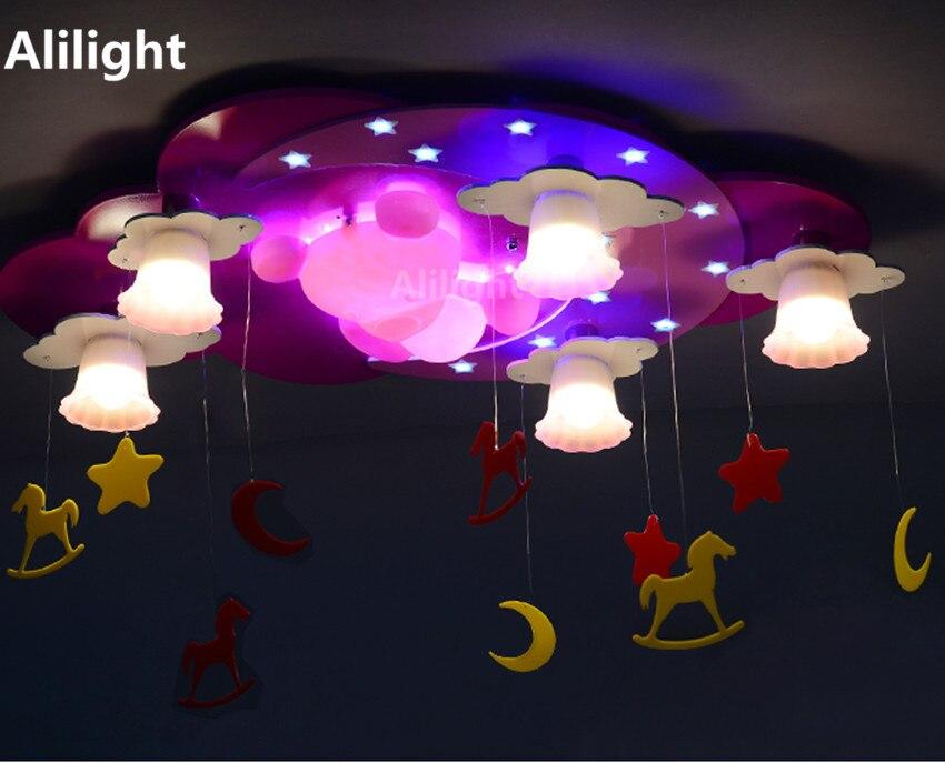 Slaapkamer Lamp Roze : Roze kleur kinderkamer plafondlampen cartoon warme slaapkamer