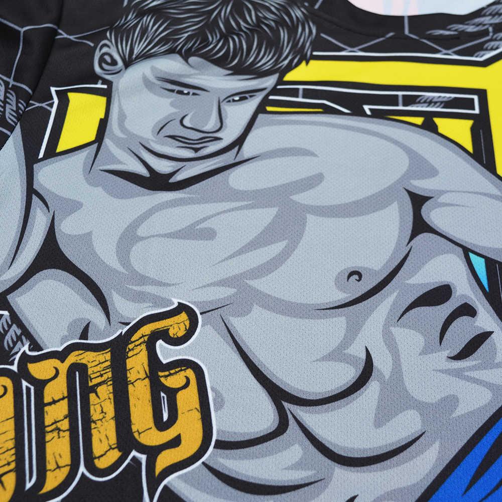 Mmatrunks Cetak Sublimasi K Berlaku BJJ Wushu Sanda Cepat Kering Ruam Penjaga Muay Thai MMA Seni Bela Diri Tinju Jiu Jitsu Kaus
