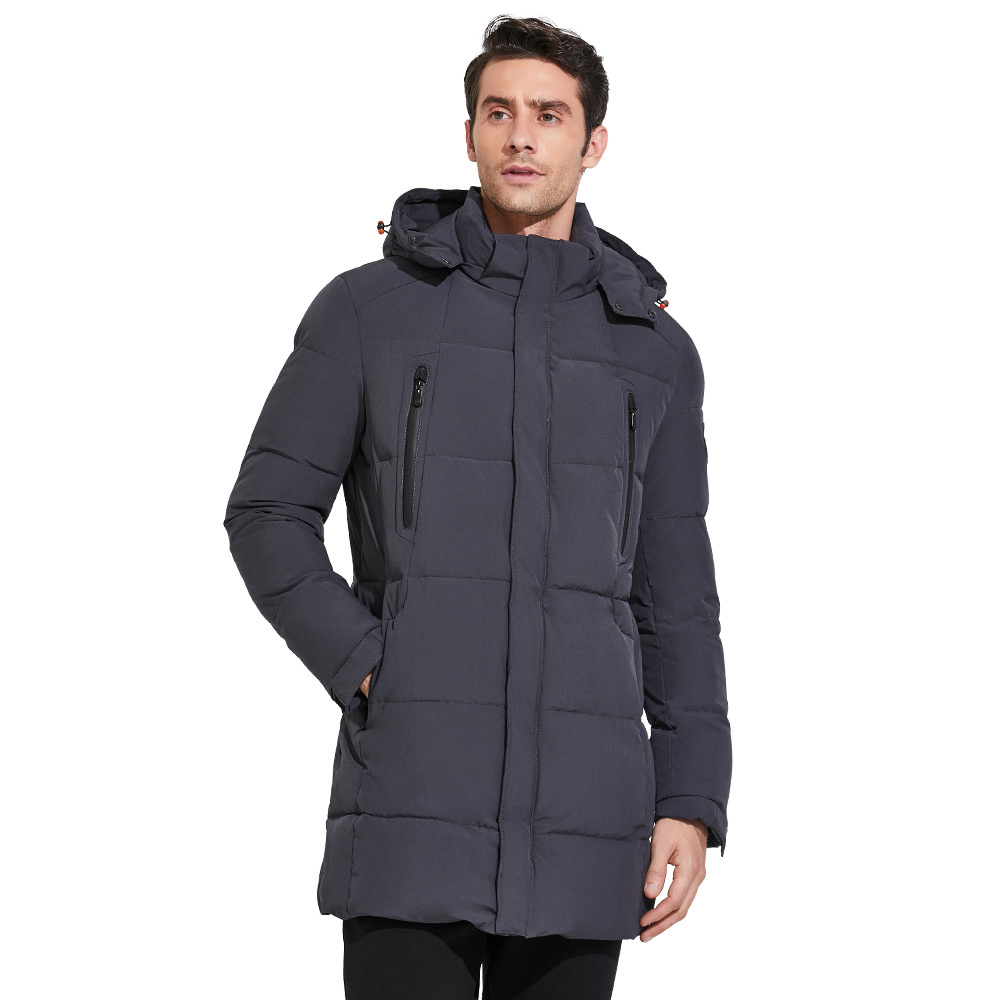 ICEbear 2018 Men's Apparel Winter Jacket Men Mid-Long Slim Thick Warm Top Quality Waterproof Zipper Brand Coat For Men 17MD942D