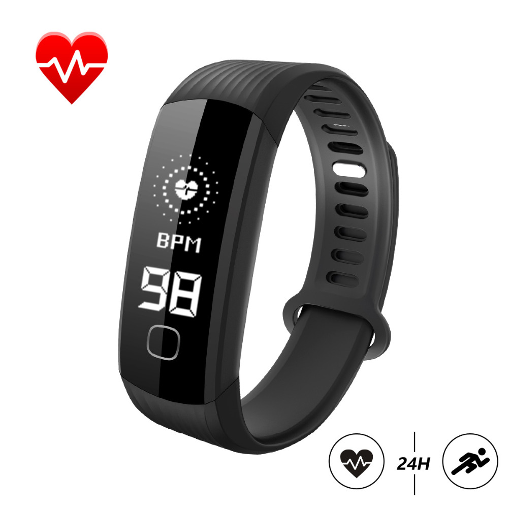 HUACP R8 Smart Bracelet Real Time Heart Rate Monitor Waterproof Pedometer Activity Tracker R8 Fitness Smart WristBand VS Mi band