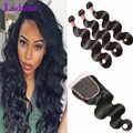 Malaysian Body Wave With Closure 7A Unprocessed Malaysian Body Wave 3 Bundles With Closure Cheap Malaysian Body Wave Bundles