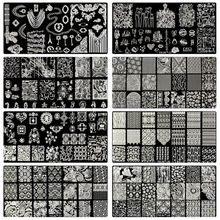 10Pcs/ Lot Nail Art Stamping Plate Flower Christmas Design Template Image Stamp Set  YICAI 21-30