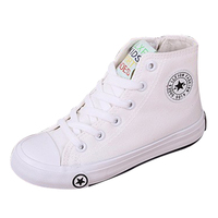 Children S High Top Canvas Shoes Children Boys And Girls Spring And Autumn 2016 Single Shoes